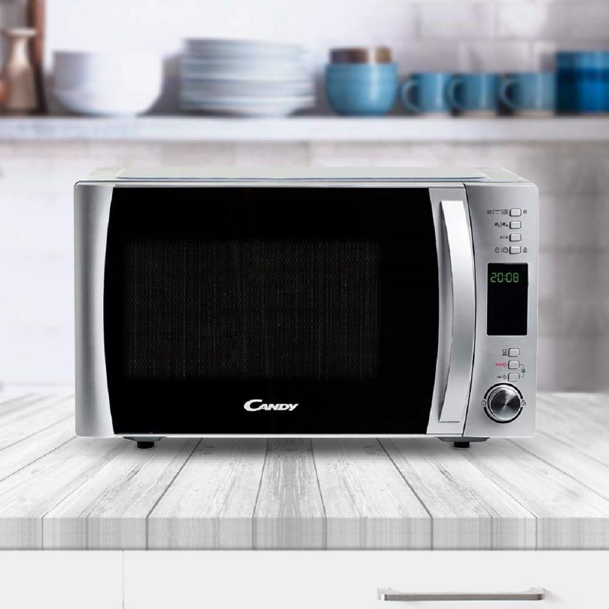 como limpiar horno microondas
