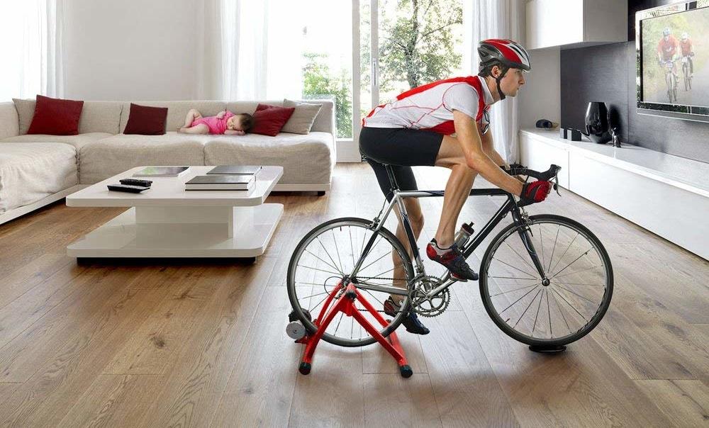 Rodillo de bici en casa
