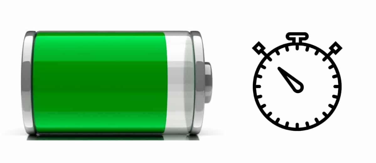 Tiempo carga pila