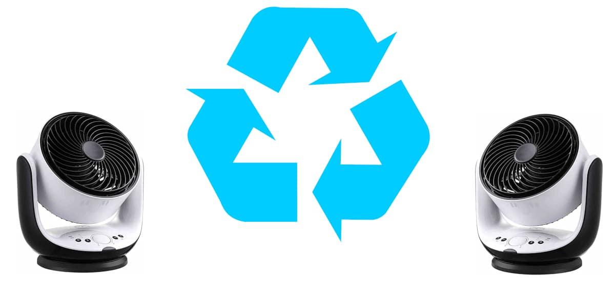 Ventiladores reciclando el aire